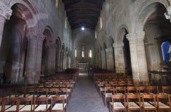 Castell`Arquato Piacenza, Italy, Santa Maria church interior Royalty Free Stock Image