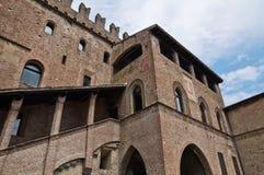 castell arquato podesta παλατιών Στοκ Φωτογραφία