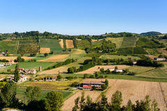Castell'Arquato vineyards Royalty Free Stock Photography