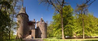 Castell Coch i södra Wales Arkivbild