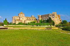 Castell d Altafulla near Tarragona, Costa Dorada, Catalonia. In Spain royalty free stock image