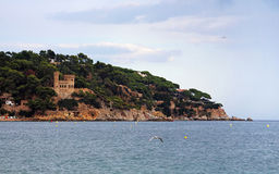 Castell d'en Plaja in Lloret de Mar, Costa Brava, Spain Royalty Free Stock Photo