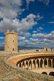 Castell de Bellver. In Palma on the island of Mallorca was built in the 14th century Royalty Free Stock Image