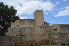 Castell de Bellver Spain. Castell de Bellver is a Gothic style castle on a hill 3 km to the west of the center of Palma on the Island of Majorca, Balearic Royalty Free Stock Images