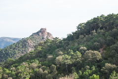 Castell de Castro. Incredible mediterranean mountain landscapes on the range of Espada in Castellon de la Plana, Valencia, Spain Stock Photo