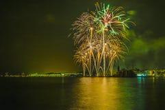 Castell de Foc dans des célébrations importantes de Festa Photo stock