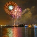 Castell de Foc dans des célébrations importantes de Festa Images stock