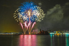 Castell de Foc dans des célébrations importantes de Festa Photo libre de droits