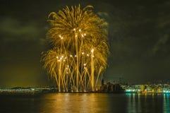 Castell de Foc dans des célébrations importantes de Festa Photos libres de droits