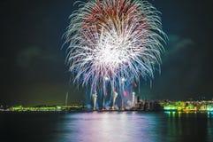 Castell de Foc dans des célébrations importantes de Festa Image stock