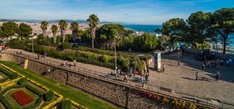 Castell de Montjuic Fortress in Barcelona, Spain. Stock Photography