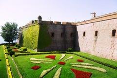 Castell de Montjuic in summer. Barcelona Stock Image