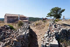 Castell de Santa Agueda Royalty Free Stock Photo