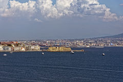 Castell Dell'Ovo. Photo of Naples in the summer royalty free stock images