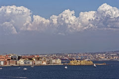 Castell Dell'Ovo. Photo of Naples in Summer stock image