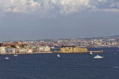 Castell Dell'Ovo. Photo of Naples in Summer Royalty Free Stock Photo