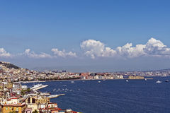 Castell Dell'Ovo. Photo of Naples in Summer royalty free stock images