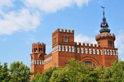 Castell delsTres drakar i Barcelona, Spanien Arkivfoto