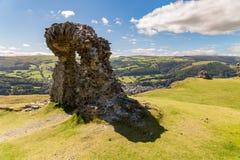 Castell Dinas Bran, Wales, UK. The remains of Castell Dinas Bran near Llangollen, Denbighshire, Wales, UK stock image