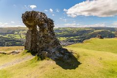 Castell Dinas Zemelen, Wales, het UK stock afbeelding