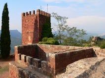 castell escornalboumonestir spain Arkivbilder