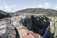 Castell follit od dzwonnicy Fotografia Stock