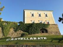 Castellabate - Abbey Castle fotos de archivo
