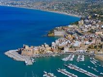 Castellamare del Golfo - Sicília imagem de stock