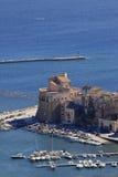 castellammare del Golfo海城堡 库存图片