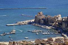 Castellammare del Golfo θαλάσσιος λιμένας Στοκ Εικόνα