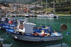 Castellammare del Golfo hamn, Sicilien, Italien Fotografering för Bildbyråer