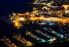 Castellammare del Golfo overzeese baai, Sicilië, Italië Stock Fotografie