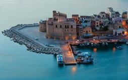 Castellammare del Golfo overzeese baai, Sicilië, Italië Stock Foto