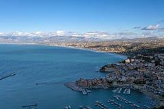 Castellammare Del Golfo, Panoramablick Stockfotografie