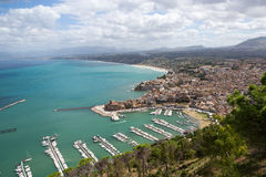 Castellammare del Golfo - Panoramic view, Sicily Royalty Free Stock Image