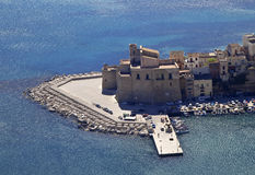 Castellammare del Golfo sea castle Stock Photography