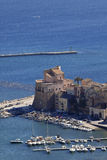 Castellammare del Golfo sea castle Stock Images