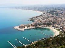 Castellammare del Golfo, Sicilië stock afbeelding