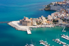 Castellammare del Golfo, Sicily, Italy. Castellammare del Golfo is a town and comune in the Trapani Province of Sicily. The name is roughly translated Sea Royalty Free Stock Images