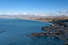Castellammare del Golfo, vista panorâmica Fotografia de Stock