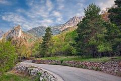 Castellane, Провансаль, Франция: ландшафт природного парка Verdon стоковые изображения rf