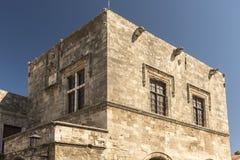 Castellania in Rhodes Old Town Fotografia Stock Libera da Diritti