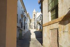Castellanosstraat in Jerez de la Frontera Stock Foto's
