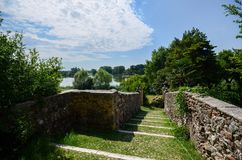 Castellaro Lagusello, Mantova, Italia fotografie stock libere da diritti