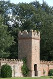 Castellated tower. Walled garden Royalty Free Stock Photography
