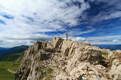 Castellazzo mount and Rolle pass Stock Photo