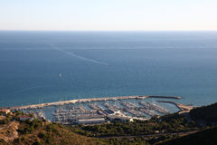 Castelldefels port Stock Images