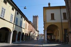 Castelleone village Stock Image
