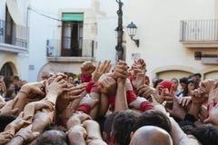 Castellers στην Καταλωνία Στοκ εικόνες με δικαίωμα ελεύθερης χρήσης