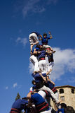castellers Royaltyfri Fotografi
